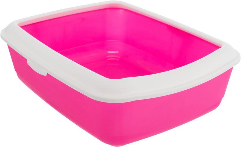 Трикси Туалет Classic с бортиком, 37х15х47 см, розовый/белый, арт.40182