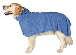 Полотенце-попона для собак L 60 см, микрофибра, синий артикул 23484