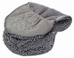 Трикси Полотенце с карманами для рук, 80х35 см, серое, арт.23576