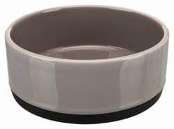 Трикси Миска керамическая на резинке, 0.4 л/12 см, серый, арт. 24360