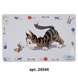 """Трикси Коврик под миску """"Кошка"""", 44х28 см, арт. 24544"""
