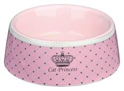 Трикси Миска для кошек Princess, 0.18 л/12 см, керамика, розовый, арт. 24780