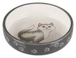 Трикси Миска для кошек короткомордых пород 0,3 л/ф 15 см, серый, арт. 24784