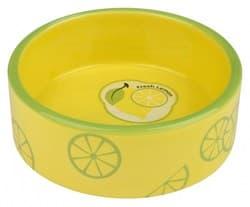 Трикси Миска керамическая Fresh Fruits, 0.8 л/ф 16 см, жёлтый, арт. 25105