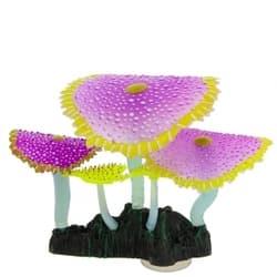Флуорисцентная аквариумная декорация GLOXY Кораллы зонтничные фиолетовые, 14х6,5х12см