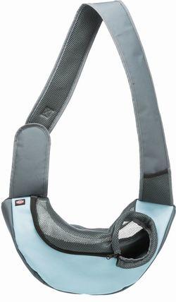Трикси Переноска - слинг, 50 х 25 х 18 см, светло-серый / светло-синий, арт.28883