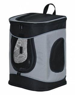 Trixie Переноска-рюкзак Timon 34 x 44 x 30 см, черный/серый артикул 28944