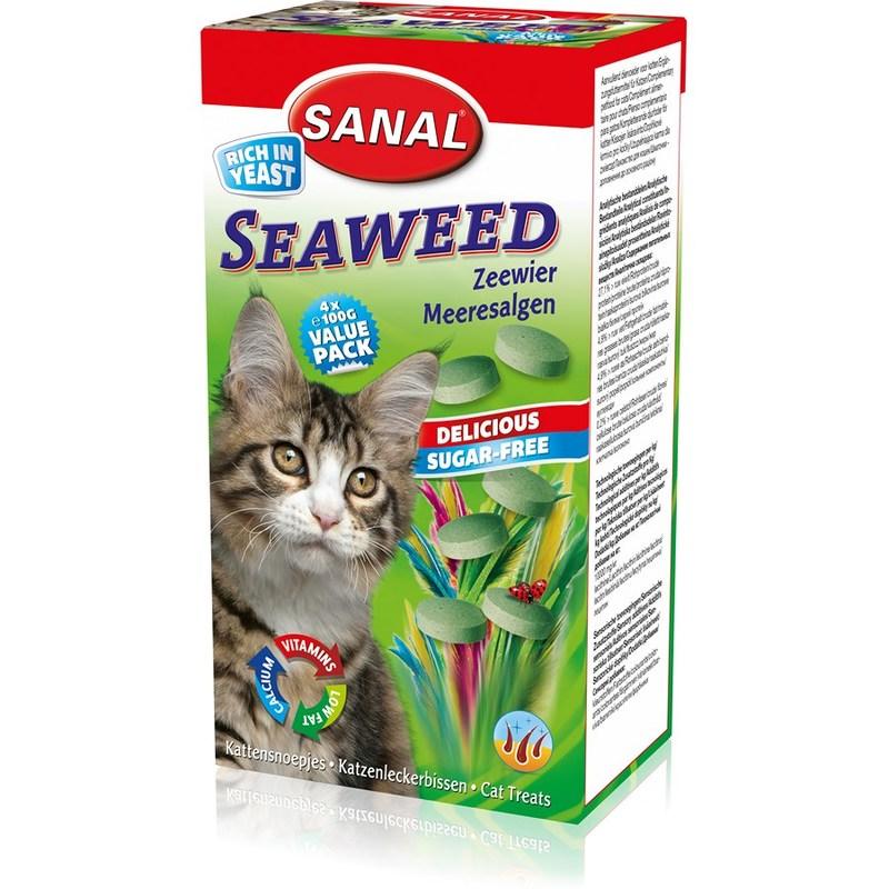 """SC3105 SANAL SEAWEED для кошек """"Морские водоросли""""  400г, (Содержит В1, В2, В6, В12)"""