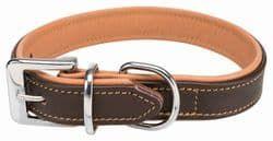 Трикси Ошейник Active Comfort, S: 31–37 см/25 мм, кожа, коричневый/светло-коричневый, арт.18935