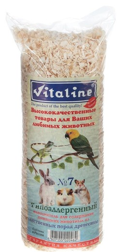 Vitalain древесный наполнитель №7 Гипоаллергенный (стружка лиственных пород) 14,7л