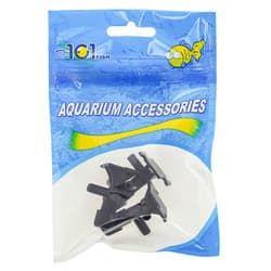 Краник воздушный пластиковый черный (3шт)(3510А)