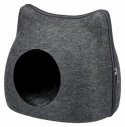 Трикси Лежак-пещера Cat, фетр, 38×35×37 cм, антрацит, арт.36318