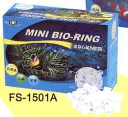 """Наполнитель для аквариумных фильтров керамический биологической очистки """"MINI BIO-RING"""" 400гр"""