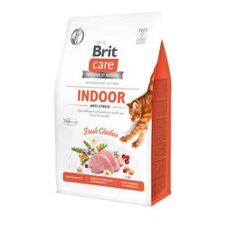 Брит 2кг Care Cat GF Indoor Anti-stress для взрослых домашних кошек Антистресс 540853