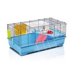 Имак клетка для кроликов и мор.свинок RONNY 100, пепельно-синий, 100х54,5х45см
