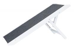 Трикси Пандус, регулируемый по высоте, МДФ, 36х90 см, белый, арт.39375