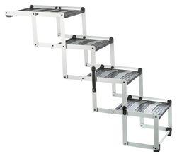 Трикси Лестница складная 4-ступенчатая , алюминий/ТПР, ширина: 37 см/высота: до 70 см, арт.39378