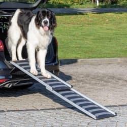 Пандус для собак раздвижной Petwalk, 40/102-170 см, 6,2 кг, черный/серый, артикул 39478