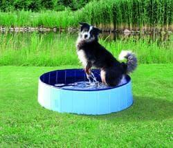 Бассейн для собак,d 80х20 см, голубой/синий артикул 39481