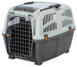 Trixie Переноска для собак Skudo, M-L 63 х70 х 92 см, IATA серо-коричневый/песчаный артикул 39744