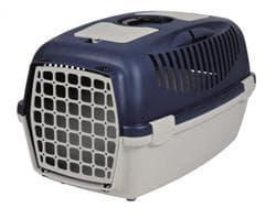 Trixie Переноска для собак Capri 3, S 40х38х 61 см, артикул 39832 светло-серый/темно-синий
