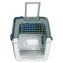 Trixie Переноска для собак Gulliver 5, M 58х60х79 см, IATA, светло-серый / темно-серый артикул 39872