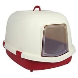 Trixie Кошачий туалет закрытый Primo , 56х47х71 см, бордовый/кремовый артикул 40286