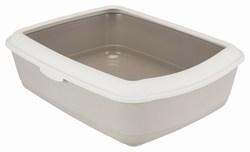 Trixie Туалет для кошек Classic с бортиком, 37х15х47 см, арт.40315-серый