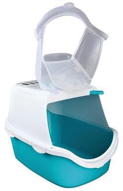 Trixie Туалет-домик Vico Open Top, 40×40×56 см, бирюзовый/белый, артикул 40345