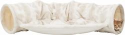 Трикси Тоннель Nelli для кошки с лежаком, 55х27х116 см, бело-коричневый, арт.43007