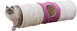 Трикси Тоннель для кошки XXL, плюш, 35х115 см, бежевый/фуксия, арт.43008