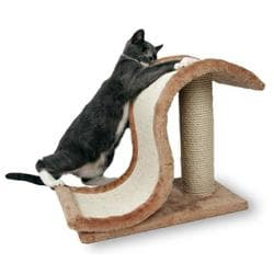 Trixie Когтеточка Inca со столбиком 25х44 см для кошек сизаль-плюш светло-коричневый артикул 4341