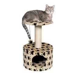 Trixie Домик для кошки Toledo кошачьи лапки высота беж артикул 43704