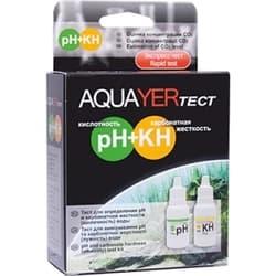 AQUAYER тест Для воды рН с KH, 15 и 15 ml