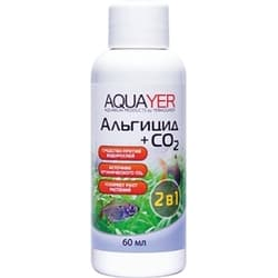 AQUAYER средство от водорослей в аквариуме Альгицид с СО2, 60 mL