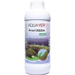 AQUAYER средство от водорослей в аквариуме АльгоШок, 1 L