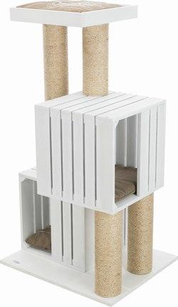 Трикси Домик-когтеточка BE NORDIC Skadi, 62х52х114 см, белый, арт.44740