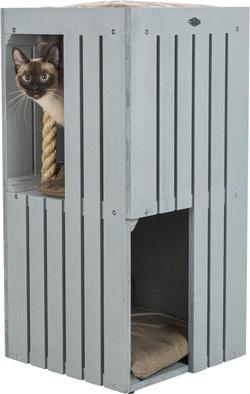Трикси Домик-когтеточка BE NORDIC Juna, 77 см, серый, арт.44741