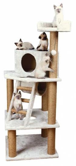 Trixie Домик для кошки Marlena 60х60х151 см, кремовый капучино артикул 44810