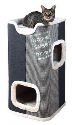 Trixie Домик-башня для кошки Jorge серый-антрацит артикул 44957