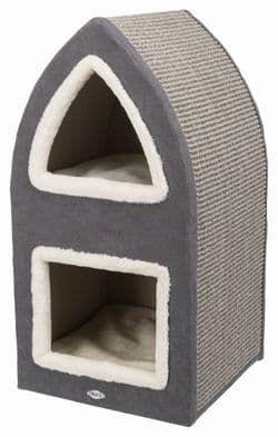 Trixie Домик для кошки Marcy, 75 см, артикул 44991 коричневый, артикул 44990 серый,