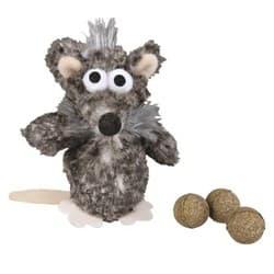"""Трикси Игрушка для кошки """"Крыса"""" с тремя мячиками, 11 см, арт.45573"""