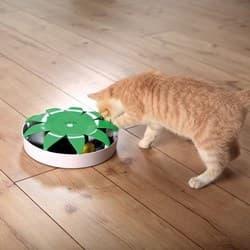"""Trixie Игрушка """"Мышь в ловушке"""", ф 25 см, белый/зелёный, арт.45578"""