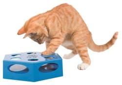Trixie Игрушка для кошки Turning Feather, пластик, 22 см, синий, арт.46007