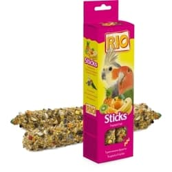 RIO Палочки для средних попугаев с тропическими фруктами 2х75 г 8 шт.
