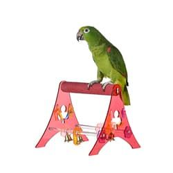 Игрушка для птиц Акриловая Подставка для птиц - L (D3.5x21x24см)