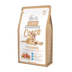 Брит 7кг Care Cat Cocco Gourmand беззерновой, для кошек-гурманов 132627