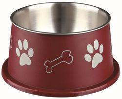 Трикси Миска для длинноухих пород собак, стальная, с пластиковым покрытием, 0.9 л/19 см, арт.25247