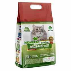 Наполнитель HOMECAT Eco Line, с ароматом зелёного чая, комкующийся 12 л (соя), арт.77514