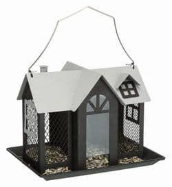 Trixie Кормушка уличная Villa, металл, 2 л/26 x 19 x 19 см, чёрный, арт. 55410